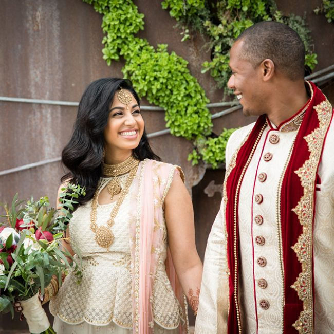 Indian bride and African American groom - Arora Events, Toronto's best wedding and event planners!